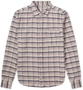 Save Khaki Plaid Flannel Work Shirt