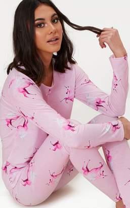 PrettyLittleThing Unicorn Pink Long PJ Set
