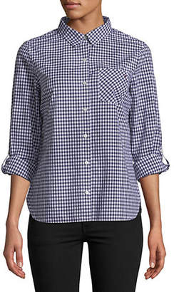 Tommy Hilfiger Roll-Tab Gingham Cotton Button-Down Shirt
