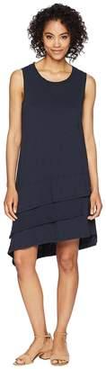 Dylan by True Grit Luxe Cotton Slub 3-Tiers Tank Dress Women's Dress