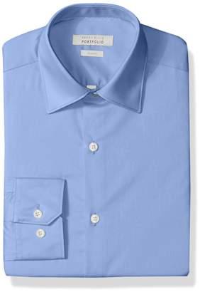 Perry Ellis Men's Slim-Fit Wrinkle-Free Solid Twill Dress Shirt