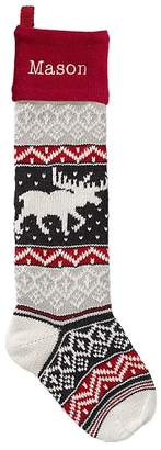 Pottery Barn Kids Moose Natural Fair Isle Stocking