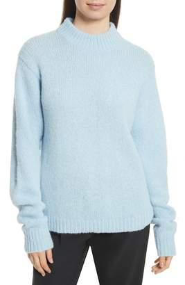 Tibi Cozette Easy Mock Neck Pullover