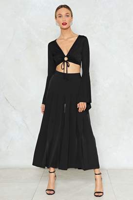Nasty Gal Pleat Explain Cropped Pants