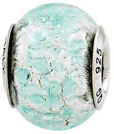 Murano Prerogatives Sterling Light Teal Italian Glass Bead