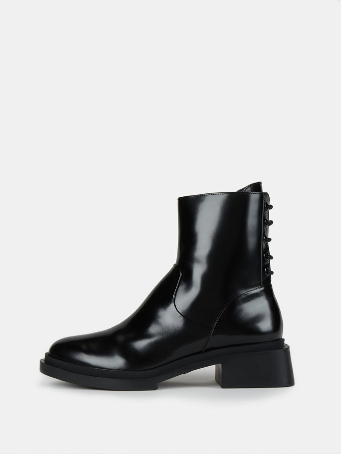 DKNY Axel Mid Calf Boot With Lacing Detail