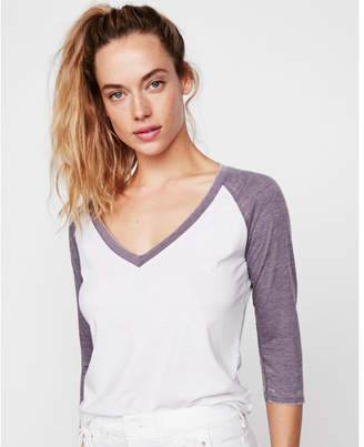 Express one eleven burnout baseball tee
