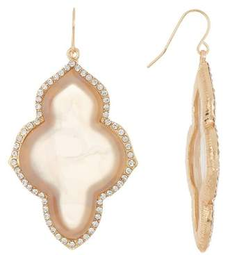 Natasha Accessories Opalescent Frame Earrings