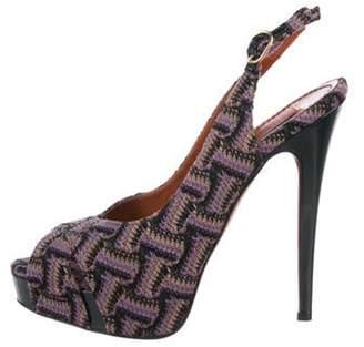 Missoni Woven Platform Sandals Purple Woven Platform Sandals