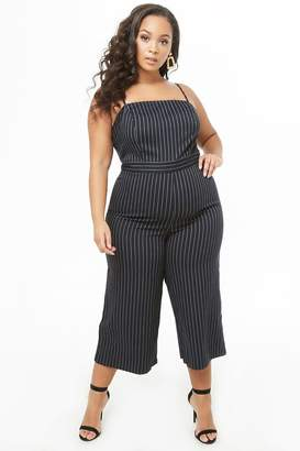 6435d809634 at Forever 21 · Forever 21 Plus Size Pinstriped Culotte Jumpsuit