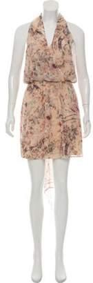 Haute Hippie Silk Mini Dress w/ Tags Beige Silk Mini Dress w/ Tags