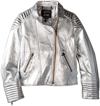 eve jnr - Luxe Leather Jacket Kid's Coat $400 thestylecure.com
