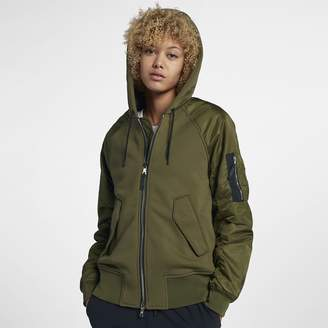 Nike Collection Mixed Fabric Bomber Women's Jacket