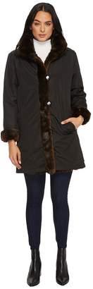 KC Collections Reversible Faux Fur Coat Women's Coat