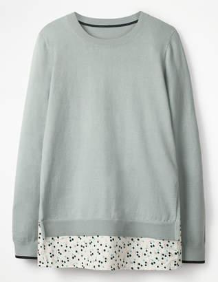 Boden Mya Woven Mix Sweater