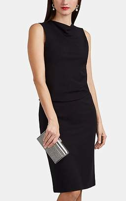 Giorgio Armani Women's Layered Stretch-Jersey Midi-Dress - Black
