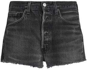 Levi's Re/Done By Frayed Faded Denim Shorts