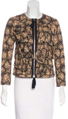 3.1 Phillip Lim Ruffle-Accented Printed Jacket