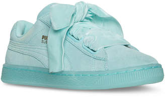 Puma Women's Suede Heart Reset Casual Sneakers from Finish Line $79.99 thestylecure.com