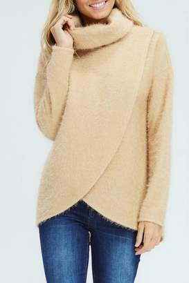 White Birch Crossover Cowl Sweater