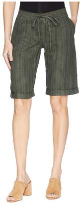 Allen Allen Stripe Bermuda Shorts Women's Shorts