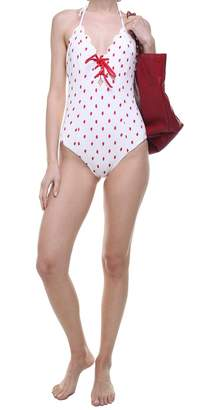 Marysia Swim Broadway Tie Maillot Scalloped-edges Swimsuit