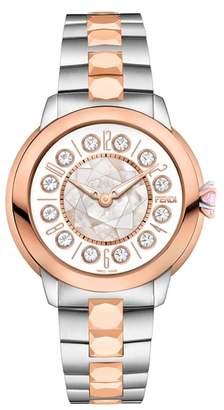 Fendi Ishine Rotating Stone Bracelet Watch, 33mm