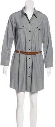 Theory Button-Up Mini Dress