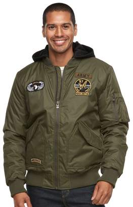 X-Ray Xray Men's XRAY Slim-Fit Hooded Military Jacket