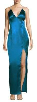 Aidan Mattox Sleeveless Column Gown