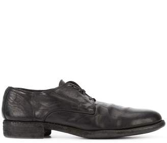 Guidi distressed derby shoes