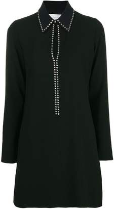 Victoria Beckham Victoria studded keyhole shirt dress
