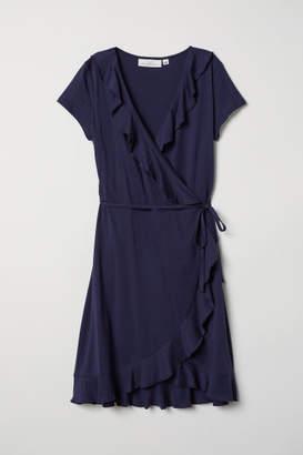 H&M Flounced Wrap Dress - Blue