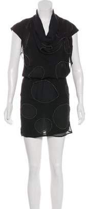 Robert Rodriguez Silk Knee-Length Dress