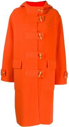 Joseph hooded wool midi coat
