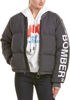 Off-White Off White Formal Wool-Blend Bomber Jacket