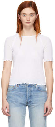 Alexander Wang White Wool Wash and Go T-Shirt