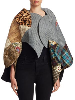 Junya Watanabe Faux Fur Wool Cape $1,965 thestylecure.com