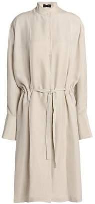 Joseph Belted Washed-Silk Shirt Dress