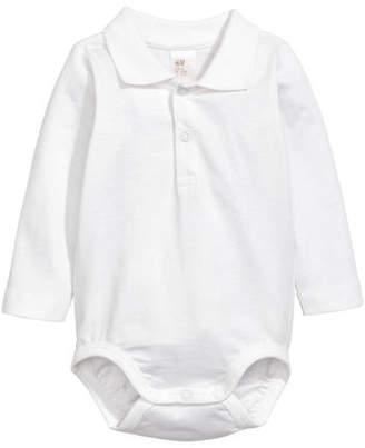 H&M Polo Bodysuit - White