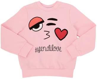 Fendi Emoji Printed Cotton Sweatshirt