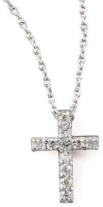 Roberto Coin Pave Diamond Cross Necklace