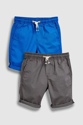 Next Boys Cobalt Pull-On Shorts Two Pack (3-16yrs)