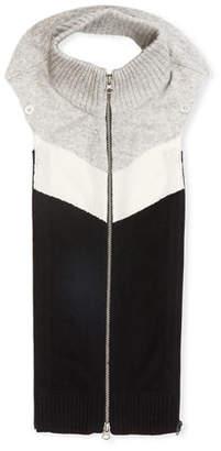 Veronica Beard Lana Colorblock Cashmere Zip-Front Dickey