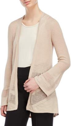 August Silk Pointelle Knit Cardigan