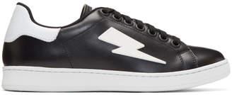 Neil Barrett Black Thunderbolt Tennis Sneakers