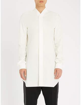 Rick Owens Longline cotton-poplin shirt