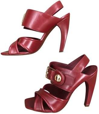Louis Vuitton Burgundy Leather Sandals