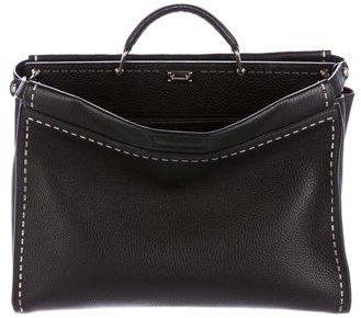 FendiFendi Large Studded Selleria Peekaboo Bag