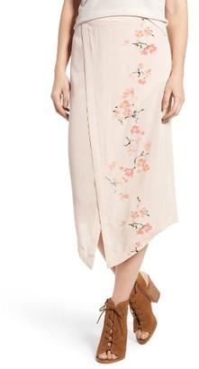 Women's Hinge Wrap Front Midi Skirt $69 thestylecure.com